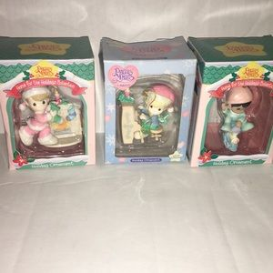 Precious Moments lot of Four Christmas Ornaments